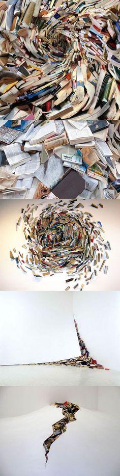 Alicia Martin's Amazing Book Sculptures.