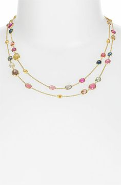 Marco Bicego 'Sivilgia' Long Sapphire Station Necklace available at #Nordstrom