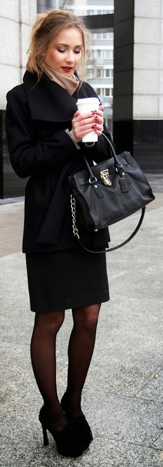 Office Chic Black Outfit #Fashionistas