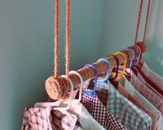 hanging clothes bar