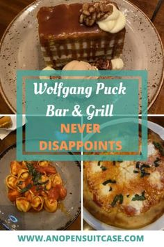 Wolfgang Puck Disney Springs - Wolfgang Puck Bar & Grill Disney Springs Never Disappoints - An Open Suitcase Flat Iron Steak, Orlando Travel, Kitchen Design Open, Grilled Pork Chops, Spoil Yourself, Restaurant Offers, Bar Grill, Disney Springs, Carrot Cake