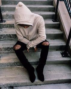 MDV Embossed Hoody - Beige                                                                                                                                                                                 More