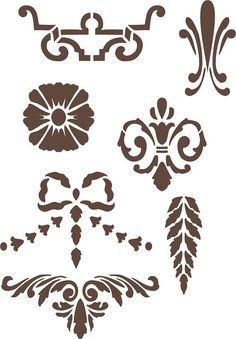 Furniture Elements Stencil 2, Craft Stencil