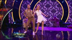 """Wk 5 (Switch-Up) Lea & Val danced Broadway to """"You Can't Stop the Beat"""" from musical Hairspray Scored: 9+8+8+9=34"""
