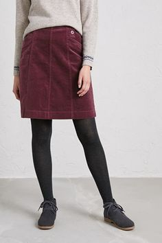 d67b21d412 Autumn Feast Skirt, Soft Needlecord A-Line Skirt - Seasalt Breton Stripes,  Corduroy
