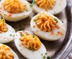 Best Ever Deviled Eggs... the flavor in this recipe really kick it up a notch and blow them out of the park! The are super simple and taste DELICIOUS!