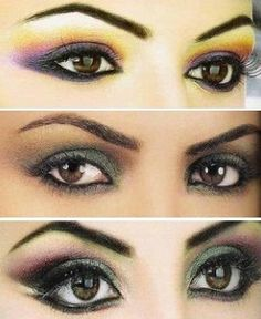 Evening make-up for brown, blue and green eyes