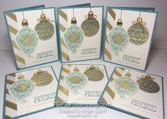 Embellished ornaments lagoon - 6 cool