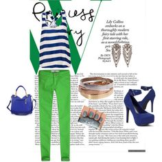 """VERDE Y AZUL"" by odaoso on Polyvore"