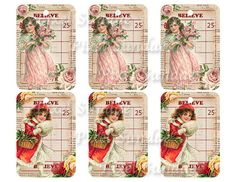 Shabby Chic/Vintage Christmas Bingo Gift Tags by MaBellePapeterie, $3.00
