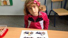 Sumas con palillos (unidades) en infantil 5 años