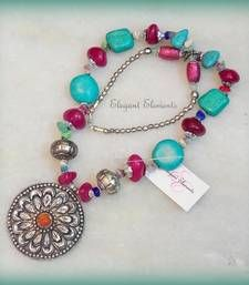 Elegant Elements - FESTIVAL DHAMAKA!!! Chic and dainty turquoise AND COLORED STONE necklace
