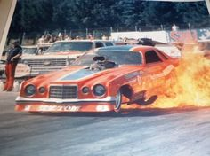 Tommy Ivo Funny Car fire burnout Funny Car Drag Racing, Nhra Drag Racing, Funny Cars, Auto Racing, You're Hot, Vintage Race Car, Drag Cars, Vintage Humor, Car And Driver