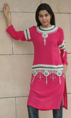 Georgette Designer Tunic With A Belt, Pearl & Glass Pipes #Bong #Pipe #Waterpipe #Stoner #Pot #Weed #Glasspipe #Teagardins #SmokeShop http://Teagardins.com #Bong #Pipe #Waterpipe #Stoner #Pot #Weed #Glasspipe #Teagardins #SmokeShop http://Teagardins.com