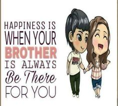 """I love my brother he is simply amazing and I just couldn't imagine my life without him."" Tag-mention ur Brother 💜💛💚👍"