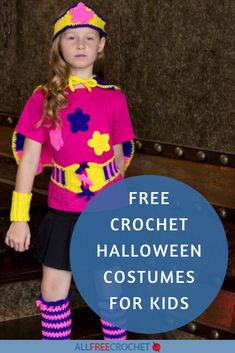 18+ Crochet Halloween Costumes for Kids #freehalloweencrochetpatterns Crochet Halloween Costume, Halloween Costume Patterns, Halloween Costumes To Make, Crochet Costumes, Halloween Crochet Patterns, Crochet Fall, All Free Crochet, Crochet For Kids, Fall Patterns