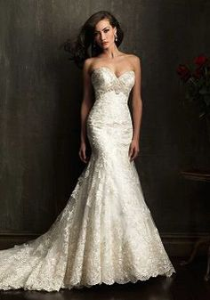 $299.99.     Lace Mermaid Empire Waist Sweetheart Elegant Wedding Gowns
