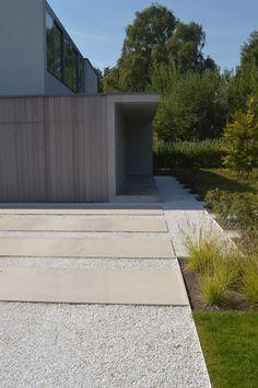 Afgewerkte projecten door Jonas D'hoore | Moderne woning in symbiose met pure tuin en omgeving | Brugge