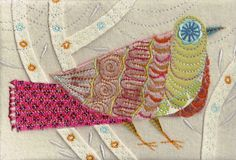 Pink Cuckoo Machine Embroidery
