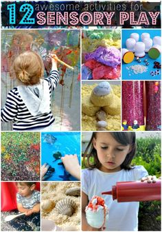 12 Awesome Activities For Sensory Play  LOVE THE PAINT WALL! That's SO COOL!