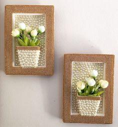 Jute Crafts, Pom Pom Crafts, Flower Crafts, Diy Home Decor Projects, Diy Home Crafts, Diy Bottle, Bottle Crafts, Garden Design Ideas On A Budget, Diy Para A Casa