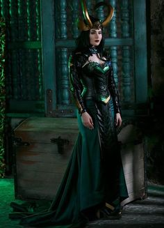 Cosplay Make-up, Lady Loki Cosplay, Cosplay Outfits, Female Cosplay, Best Cosplay, Loki Halloween Costume, Loki Costume, Halloween Outfits, Traje Loki
