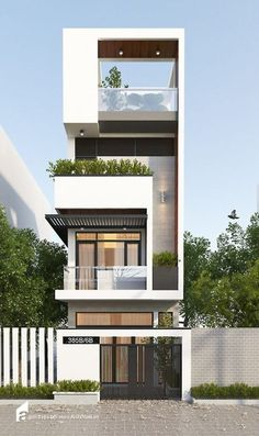Small house facade design pin by on architecture modern house design modern modern architecture architecture residential Modern Small House Design, Modern Apartment Design, Small Modern Home, House Front Design, Modern House Plans, Modern Homes, Duplex Design, Architecture Design, Facade Design