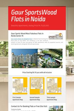 Help spread the word about Gaur SportsWood Flats in Noida. Please share! :)