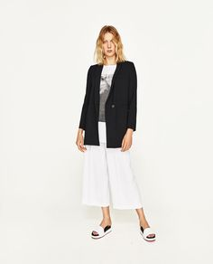 ZARA - ЖЕНЩИНЫ - БРЮКИ С ВЫСОКОЙ ПОСАДКОЙ Culottes, Trousers, Pants, Summer Wardrobe, School Outfits, Front Row, Must Haves, Fashion Online, Normcore