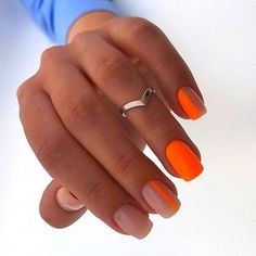 Discover new and inspirational nail art for your short nail designs. Nail Art Designs, Short Nail Designs, Bright Nail Designs, Orange Nail Designs, Neon Nail Art, Neon Nails, Neon Orange Nails, Gold Nails, Orange Nail Art