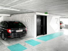 """thebackmatter: """"St. Lucas Hospital Wayfinding & Signage by RikGrafiek / rikgrafiek.be Signage and wayfinding system for AZ St. Lucas parking tower in Gent, Belgium. Commissioned by Abscis..."""
