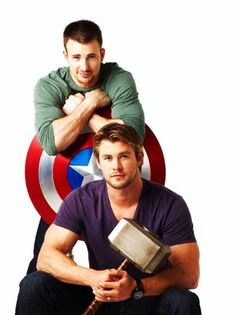 Chris Evans is hot all the time, whereas Chris Hemsworth is hot when he has his long hair and is smeared with dirt....