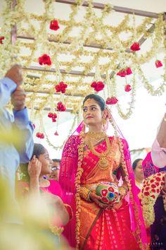 South Indian Wedding Saree, South Indian Bride, Fancy Blouse Designs, Bridal Blouse Designs, Indian Bridesmaids, Brides And Bridesmaids, Telugu Wedding, Saree Wedding, Ganesha