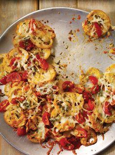 Recette de Ricardo de baguette de style nachos à l'italienne