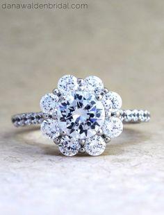 Kendall #Custom #Diamond #Halo #EngagementRing by #DanaWaldenBridal :: Engagement Ring Designers - #NYC