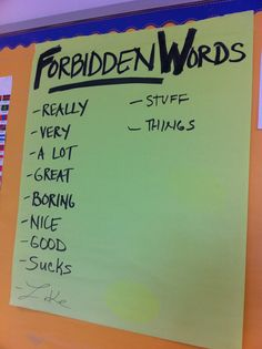 Great idea to encourage students to increase their vocabulary when writing or speaking.