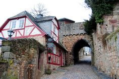 The gate to the castle, Marburg, Germany