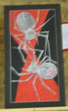 Black Widow - art created by a student with disabilities at the Woodrow Wilson rehabilitation Center