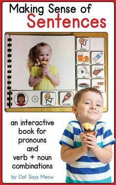 Forming sentences interactive books: pronouns and verb + noun combinations (MLU)