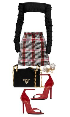 """Untitled #22630"" by florencia95 ❤ liked on Polyvore featuring Carven, Prada and Yves Saint Laurent"
