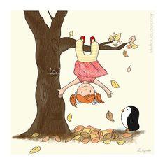 Children's Wall Art Print - The Tree, Childhood Series - 8 x 8