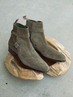 Carmina Shoemaker Jodhpur Boots in Loden Suede