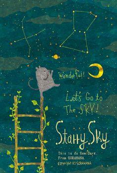Starry Sky By Megumi Inoue (Muumegu) Children's Book Illustration, Botanical Illustration, Book Design, Design Art, Vida Natural, Children's Picture Books, Illustrations And Posters, Cute Art, Illustrators