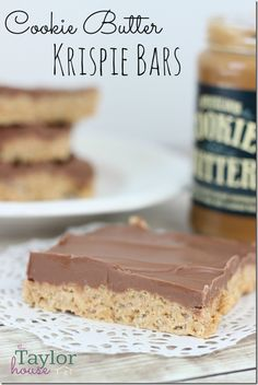 Cookie Butter Bars, Cookie Butter Rice Krispie Bars