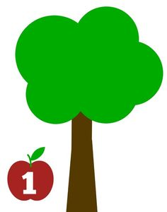 apple tree math mats for fall apple trees from 1-10