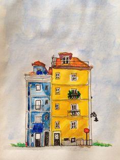 Blue n yellow apartment