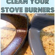 My stove burners get absolutely disgusting. Sealing them up with a tin… :: Hometalk