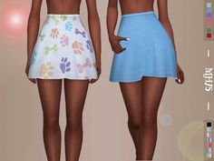 Some lovely high waist skater skirts for your sims Found in TSR Category 'Sims 4 Female Everyday'