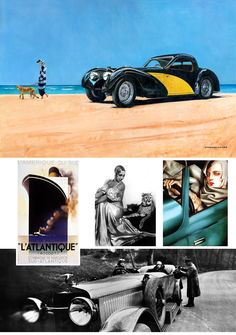 From a time when it was 'de rigueur' to drive from Paris to exercise your pet cheetah on a beach at Dieppe. And what better way to travel than in a Bugatti type Chic or what? E Type, Ways To Travel, Bugatti, Cheetah, Your Pet, Monster Trucks, Exercise, In This Moment, Paris