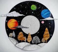 Fantasy Galaxy Landscape Art by DuxDoodles on Etsy